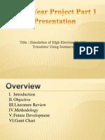 Simulation of HEMT slide