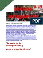 Noticias Uruguayas Martes 19 de Febrero Del 2013