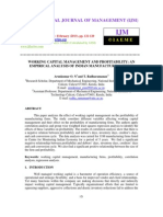 Working Capital Management and Profitability an Empirical Analysis
