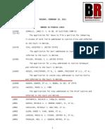 Noonan v Bowen(Obama) - Supreme Court Order List - Application For Stay Denied Without Comment - 2/19/2013