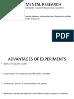 Research Pexprimental research