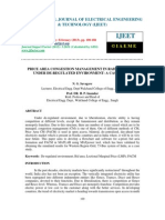 Price Area Congestion Management in Radial System Under de-regulated Environment