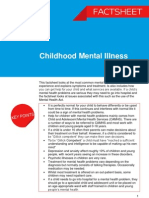 Childhood Mental Illness Factsheet