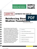 Estimate the Reinforcement in Shallow Foundation