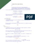Algebra Sol