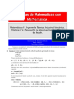 Práctica de resolución de sistemas (Jacobi) (4-2011)