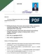 Resume-Model for MBA