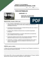Ficha de Trabalho n.o 5 - Portugal Na 2a Met. Do Sec. Xix