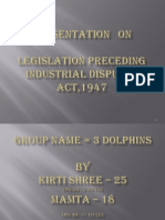 Legislation Preceding Industrial Disputes Act,1947