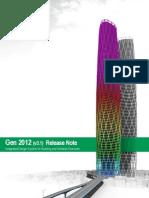 Release Note Gen2012(v3 1)