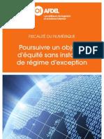 Position AFDEL - Fiscalité du Numérique_Poursuivre un objectif d'équité sans instaurer de régime d'exception_19022013.pdf