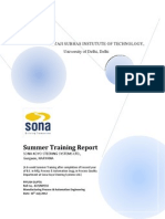 Summer Training File at SONA KOYO STEERING SYSTEMS LTD.