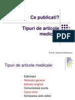 Tipuri de Articole Medicale