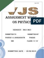 Physics Assingment