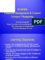 Lecture 7 - Budgeting