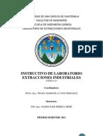 Instructivo Extracciones Industriales Primer Semestre 2013