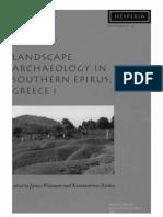 Wiseman&Zachos (Eds) - Landscape Archaeology in Southern Epirus, Greece