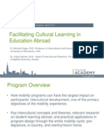 Facilitating cultural learning in education abroad   Spring EAIE Academy 2013