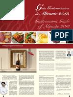 Guia Gastronomica Privada Alicante 2013