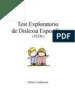 b Test Exploratorio de Dislexia Especifica TEDE