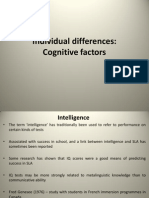 Individual Differences Cognitive Factors 1