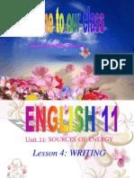 unit 11 Writing  english 11.ppt