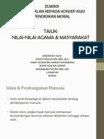Nilai-Nilai Agama & Masyarakat