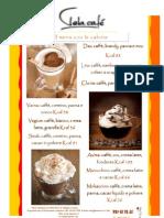 Menu con calorie caffè spaciali VELA CAFE'  Centro Commerciale le Vele, Viale Marconi Cagliari-Quartucciu