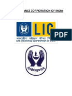 reasearch on Life insurance company of India project BMS