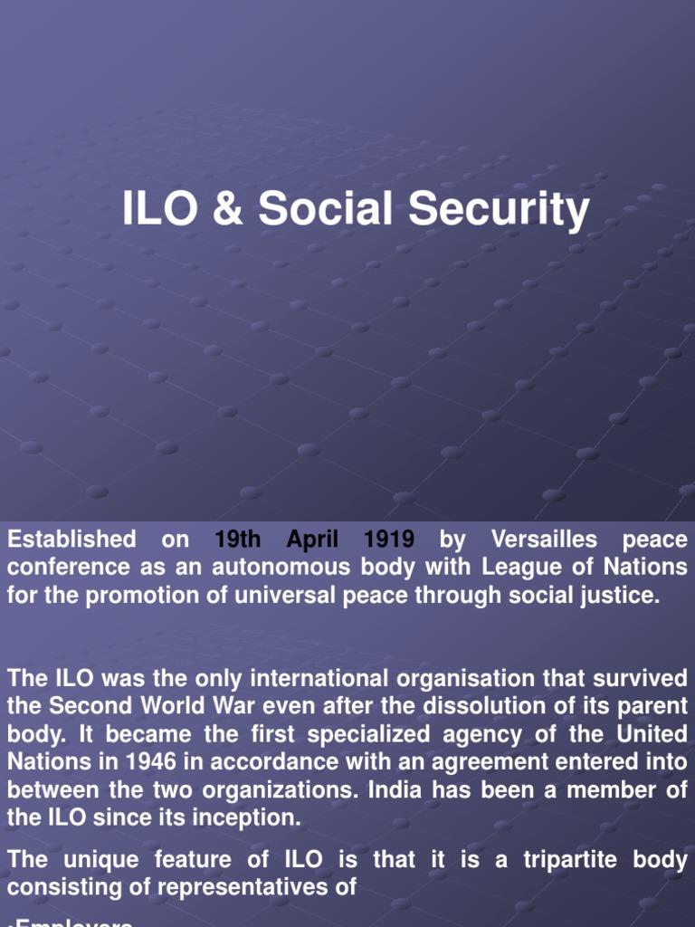 Ilo Ppt International Labour Organization Trade Union