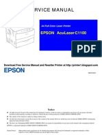 Epson Aculaser c1100 Color Laser Printer