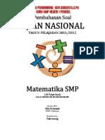 Pembahasan Soal UN Matematika SMP 2012 (10 Paket)