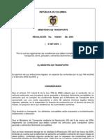 Resolución N° 2505-2004 TRANSPORTE DE CARNE Y PESCADOS