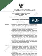 Perda Kab Malang No 03 Tahun 2010 RTRW Kab Malang