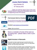 Inclusion North Bulletin 35