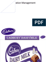 production and operation of cadbury