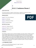 10.4.1 - Continuous Beam I