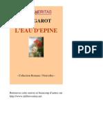 Alain Garot-l'Eau Depine