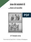Libretto Istituzione Ministeri Di Lettore Ed Accolito