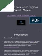 Instructivo Para Recien Llegados Al Proyecto Mapear