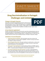 Office of National Drug Control Policy Fact Sheet - Drug Decriminalization Portugal