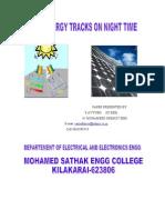 Solar Energy Teacks on Night Time