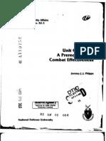 Unit Cohesion - A Prerequisite for Combat Effectiveness - Jeremy J. J. Phipps - A119752