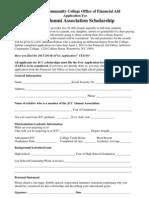 JCC Alumni Association 2013-2014 Scholarship Application