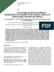 Effect of Olive Storage Period on 2 Cultivars. Nabil Et Al