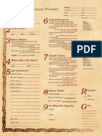 Mouse Guard RPG Character Worksheet - Form-fillable