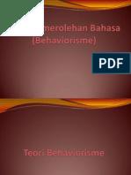 Teori Behaviorisme