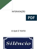INTERVENÇÃO AULA