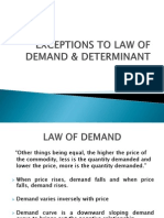 Exception to Law of Demand