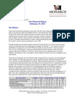The Monarch Report 2/19/2013